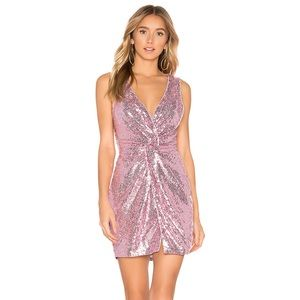 NWT Revolve About Us Becky Sequin Knot Dress Pink
